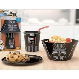 Set 3 piezas vaso bol y plato PVC Star Wars Darth Vader