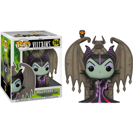 Dragon Maléfica Maleficent Villains GITD Exc 720 Disney Pop Funko