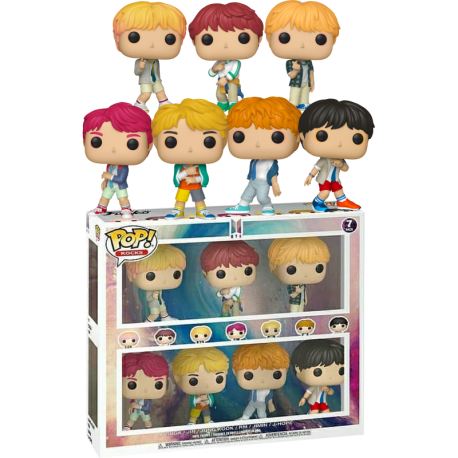PAck 7 Funko BTS Jung Kook Jimin Suga Hope V Jin TM J-Hope exclusivo