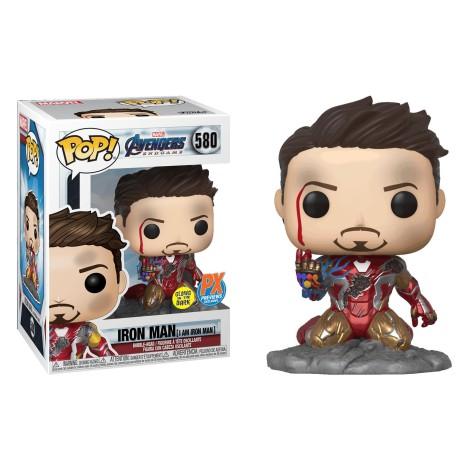 Iron Man GITD I Am Avenger Vengadores Endgame 580 Funko Tony Stark