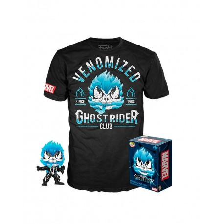 Pop and tee Ghost Rider Venomized Funko camiseta Talla M