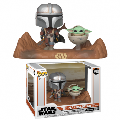 "Star Wars Figura Super Sized POP! Vinyl Baby Yoda Mandalorian 25cm 10"" Child"