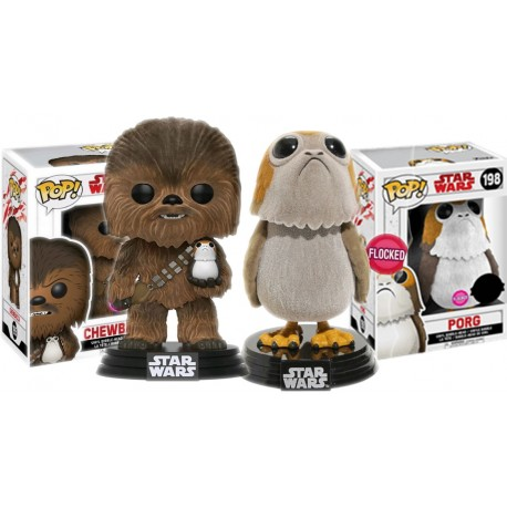 Figura Porg Flocked exclusivo LAst Jedi Funko Pop Star Wars