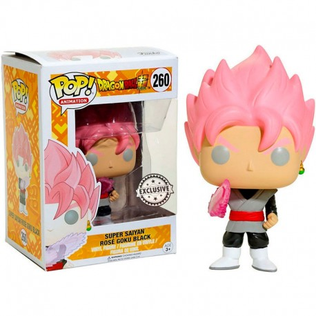 Figura Goku Pelo Rosa num 260 Super Saiyan Rose Hair Pop Dragon ball zPop Vinyk Funko