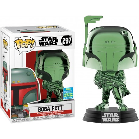 Boba Fett Chrome Funko Pop Exclusiva Celebration 2019