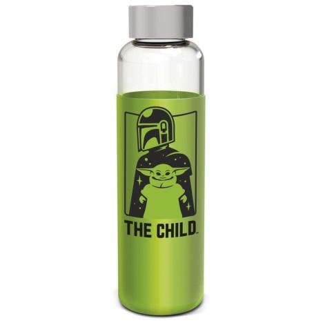 Botella cristal 640ml Baby Yoda The Child Star Wars Mandalorian