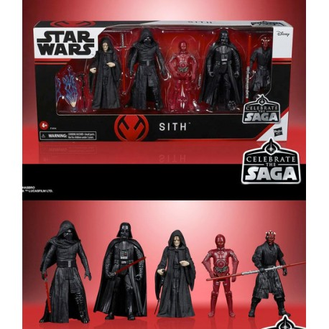 Pack 5 figuras Bounty Hunters Celebration Star Wars Saga