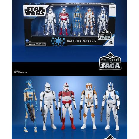 Pack 5 figuras Jedi Order Celebration Saga Star Wars Saga