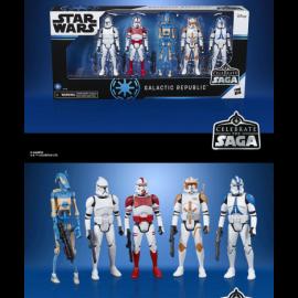 Pack 5 figuras Galactic Republic Celebration Saga Star Wars Saga