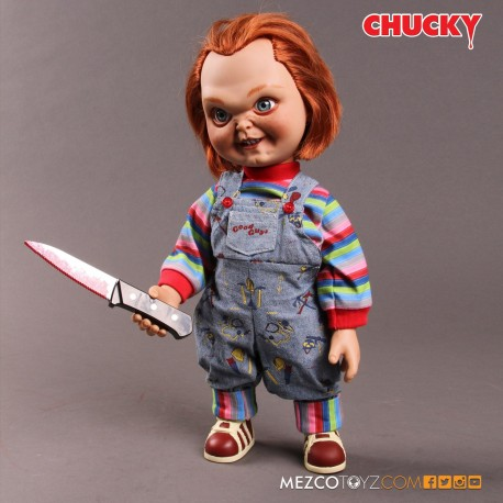 CHUCKY MUÑECO HAPPY FACE CON VOZ 38 CM GOOD GUY