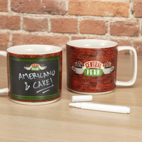 Taza CApuccino Friends Central Perk roja Friends for ever
