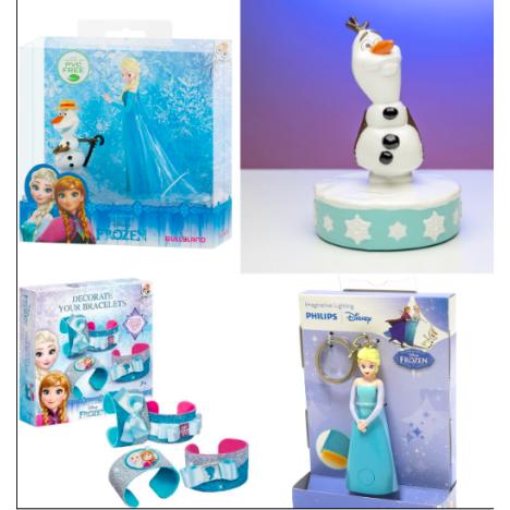 Pack Frozen Hucha Olaf Figuras Elsa Olaf Set haz tus brazaletes y llevo con luz Elsa