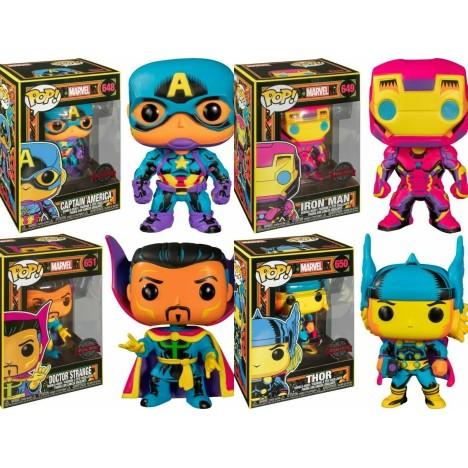 Iron Man 650 Black Light Avenger Vengadores Funko Pop