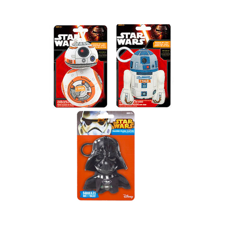 Pack 7 peluches 10cm Star Wars Vader Yoda Kylo BB-8 R2-D2 Chewbacca Trooper