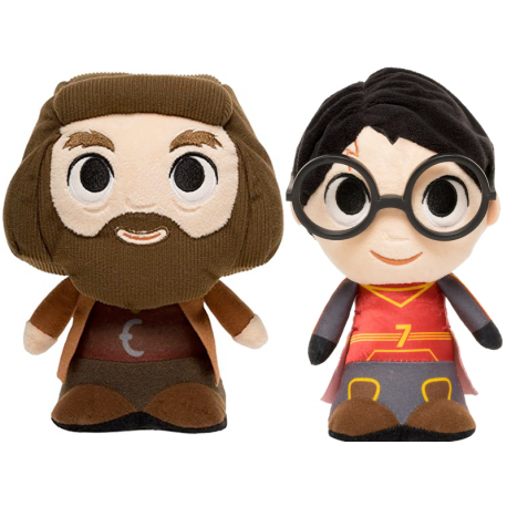 PAck 2 Peluche Harry Quidditch Funko Plushie Harry Potter y Hagrid