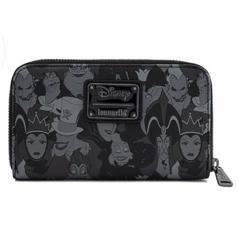 CArtera Villanos Disney Villains Evil Disney LoungeFly Malefica Cruella Ursula