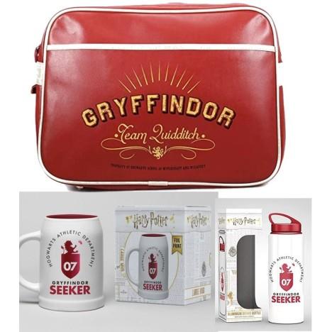 PAck Hermione Granger taza, llavero HOgwarts varita y Bufanda Gryfindor 150cm en caja regalo Harry Potter