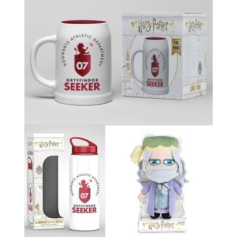 PAck Bandolera , Jarra cerámica Seeker, botella PVC Harry Potter quidditch
