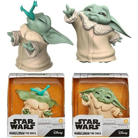 Pack dos figuras Baby Yoda Child Mandalorian Star Wars casco
