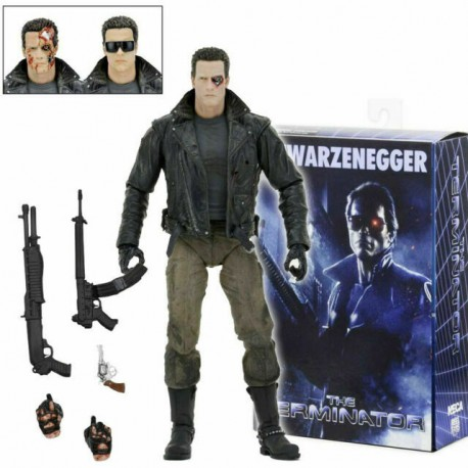 Figura ultimate Terminator T-800 Tech Noir varias cabezas Neca 18cm Figure