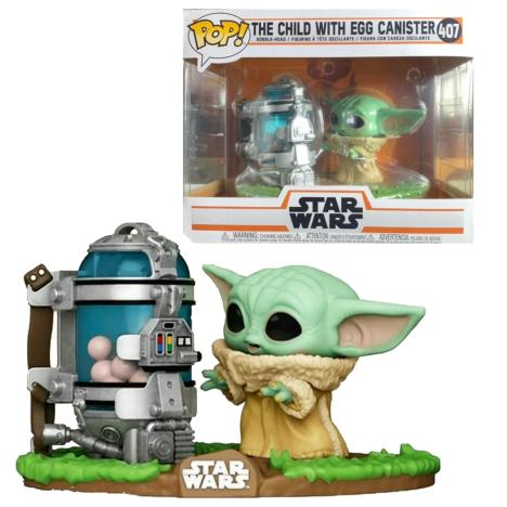 """Star Wars Figura Super Sized POP! Mando y Baby Yoda Mandalorian 25cm 10"""" Child"""