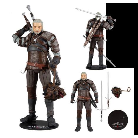 Figura Geralt Rivia Gold Label DArk HOrse Witcher 18cm
