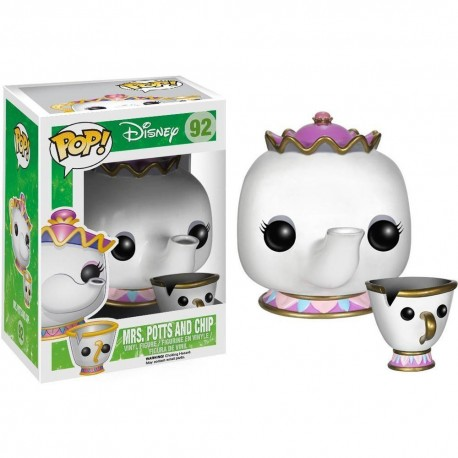 pack 3 Figuras Ding Dong Lumiere Potts y Chip Bella Bestia Funko