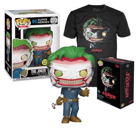 Pop and tee Death Joker GITD exc Funko camiseta Talla L